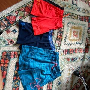 Boys lot of under armour shorts